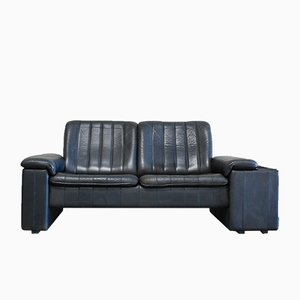 Vintage Anthracite Leather 2-Seater Sofa from de Sede