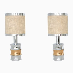 Vintage Chrome Table Lamps from Reggiani, Set of 2
