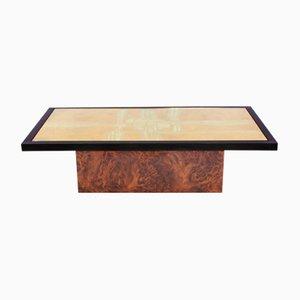 Mesa de centro de latón grabado de Maho, años 70