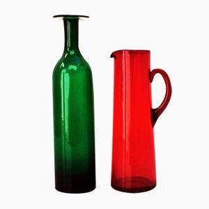 Mid-Century Scandinavian Vases, Set of 2