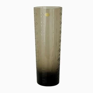 Jarrón vintage de cristal ahumado de Rosenthal