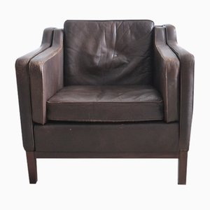 Danish Leather Armchair by Mogens Hansen