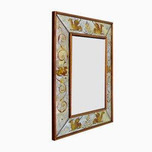 Espejo veneciano con decoraciones doradas, años 40
