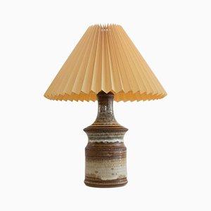 Lámpara de mesa de gres hecha a mano de Joseph Simon para Soholm Stentoj, años 60