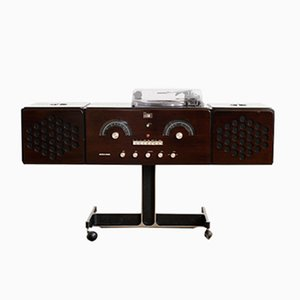 Mid-Century RR 126 Dark Brown Record Player by Pier Giacomo & Achille Castiglioni for Brionvega, 1960s