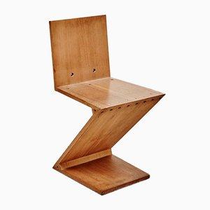 Chaise Zig-Zag par Gerrit Rietveld pour Metz & Co, 1968