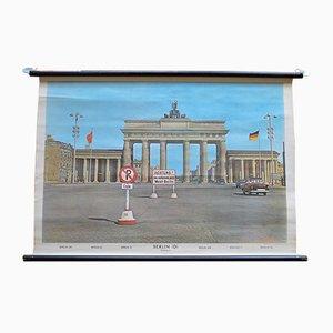 Cartel escolar de la Puerta de Brandenburgo de Heder Druck, 1958