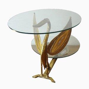 Mesa de centro con cisne de Henri Fernandez, años 70