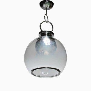 Lámpara de araña Mid-Century de cristal de Murano con seis luces