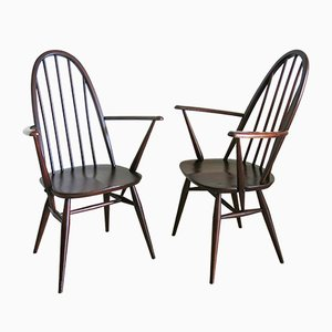 Quaker Back Windsor Armchairs by Lucian Ercolani for Ercol, 1970s, Set of 2