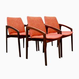 Chaises de Salon Mid-Century en Palissandre par Kai Kristiansen pour Korup, Set de 4