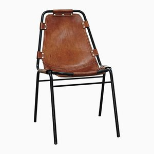Vintage Chair with Leather Seat, 1970s