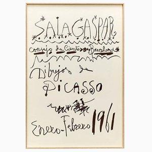 Original Picasso Lithography by Pablo Picasso, 1961