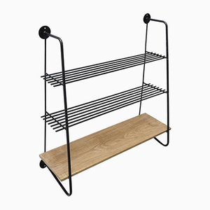 Vintage Shelving Unit with Three Shelves, 1950s