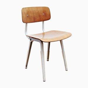 Sedia girevole vintage in metallo e legno di Friso Kramer per Ahrend de Cirkel