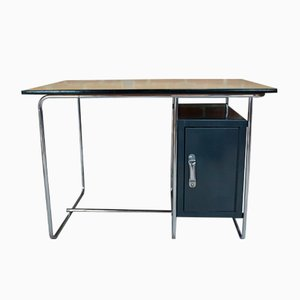 Industrieller Vintage Schreibtisch mit Bergahorn Tischplatte