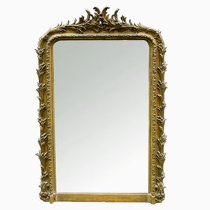Large Antique Louis Philippe Gilded Mirror