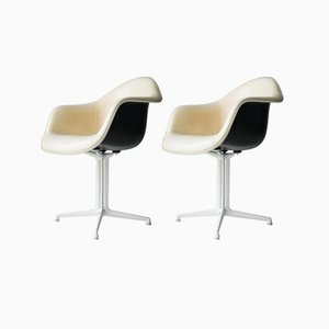 Vintage Plastic DAL Armchairs by Charles & Ray Eames for Herman Miller, Set of 2