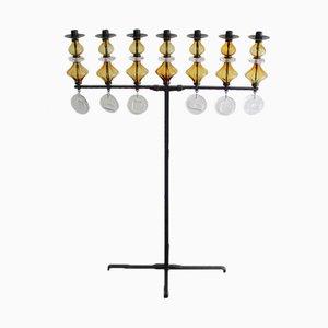 Large Swedish Seven-Arm Candleholder by Erik Hoglund for Kosta Boda, 1965