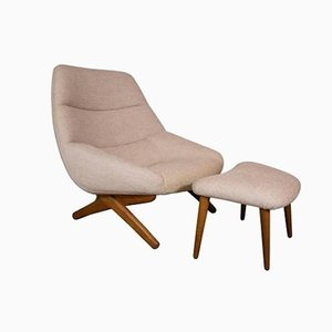 Lounge Chair and Ottoman by Illum Wikkelso for Mikael Laursen, 1960s