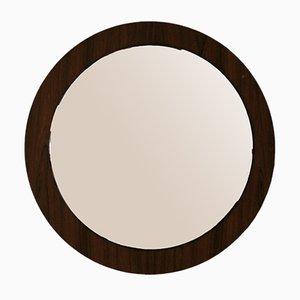 Specchio vintage rotondo in palissandro