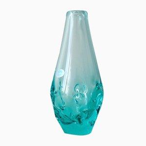 Vase Vintage en Verre par Miroslav Klinger pour ZBS