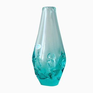 Vintage Glass Vase by Miroslav Klinger for ZBS