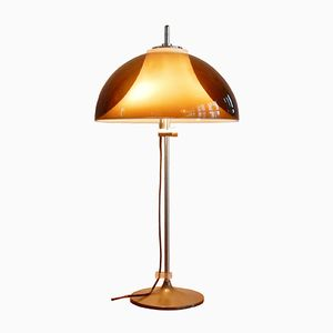 Vintage Desk or Table Lamp with Adjustable Perspex Hood