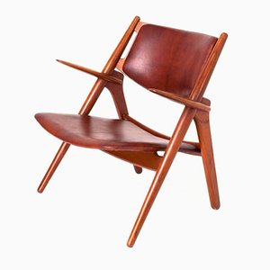 Vintage Sawbuck Easy Chair by Hans J. Wegner for Carl Hansen & Søn
