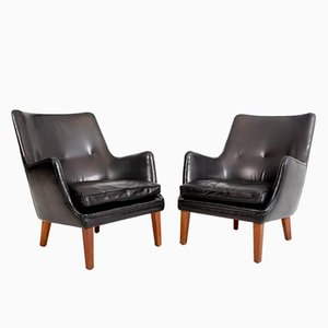 Vintage Easy Chairs by Arne Vodder for Ivan Schlechter, Set of 2