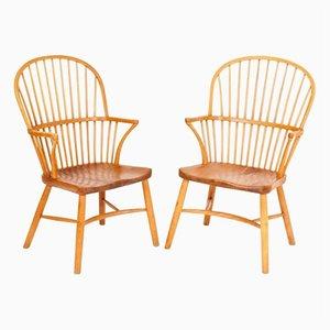 Chaises Windsor Vintage par Palle Suenson pour Fritz Hansen, Set de 2