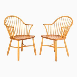 Windsor Chairs by Palle Suenson for Fritz Hansen, Set of 2