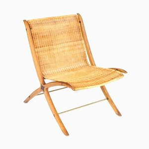 Vintage X-Chair by Peter Hvidt & Orla Mølgaard-Nielsen for Fritz Hansen
