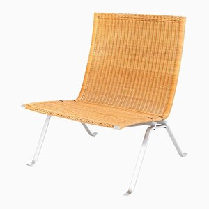 PK22 Lounge Chair in Cane by Poul Kjaerholm for E. Kold Christensen