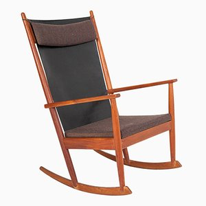 Vintage Rocking Chair in Teak by Hans Olsen