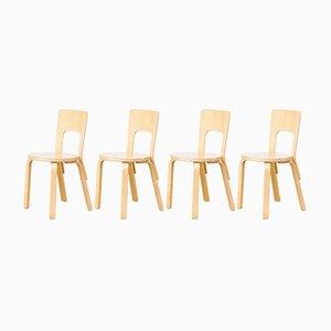 Chaises de Salon Model 66 par Alvar Aalto pour Artek, 1960s, Set de 4