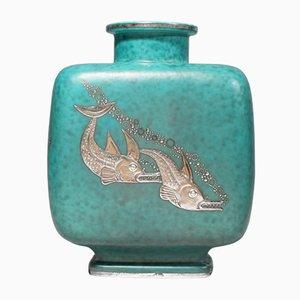 Swedish Argenta Vase by Wilhelm Kåge for Gustavsberg, 1936