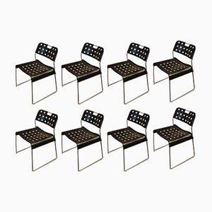 Italian Chairs by Rodney Kinsman for Bieffeplast, 1972, Set of 8