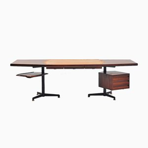 Mid-Century Italian Desk by Osvaldo Borsani for Tecno