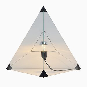 Vintage Dutch Tetrahedron Table Lamp by Frans van Nieuwenborg & Martijn Wegman for Indoor