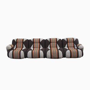 Italian Modular Wool Sofa, 1960s