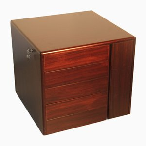 Minimalist Cubic Rosewood Chest of Drawers by Eugenio Gerli for Tecno, 1960s