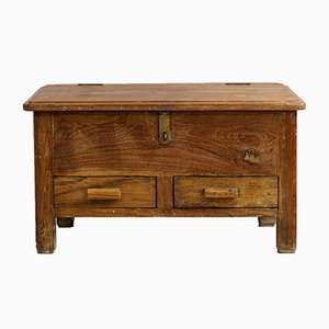 Indian Floor Writing Desk in Teak, 1900s