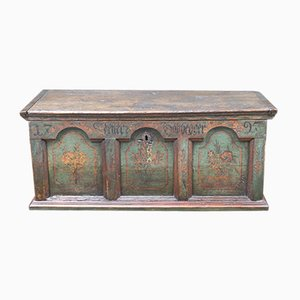 Antique Polychrome Chest, 1797