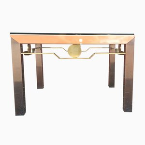 Table Basse Hollywood Regency Vintage avec Plateau en Verre