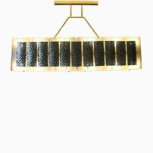 Lámpara de techo rectangular, años 70