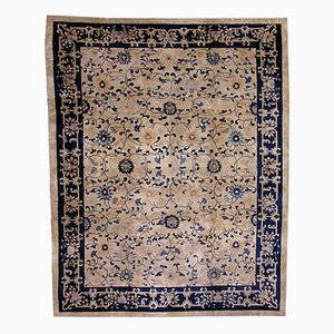 Antiker Chinesischer Handgemachter Peking Teppich, 1900er