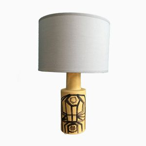 Vintage Danish Ceramic Table Lamp from Okela, 1970s