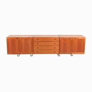 Modulares Dänisches Vintage Sideboard in Teak Furnier