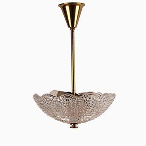 Lámpara colgante sueca Mid-Century de Carl Fagerlund para Orrefors, años 60